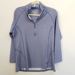 Peter Millar BLue Half Zip Sweater Sz XL